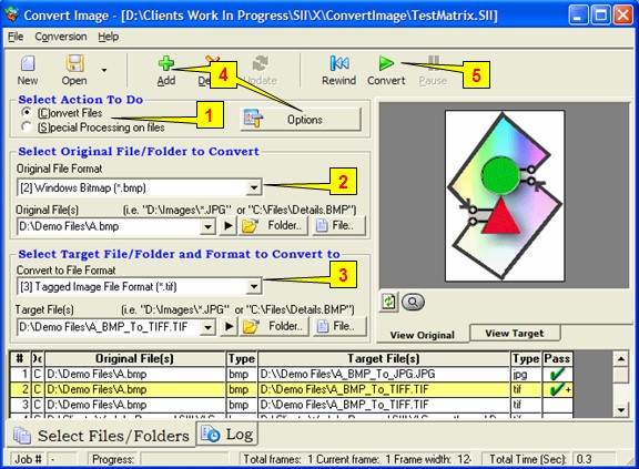 Graphic file converter for JPG, GIF, TIF, BMP