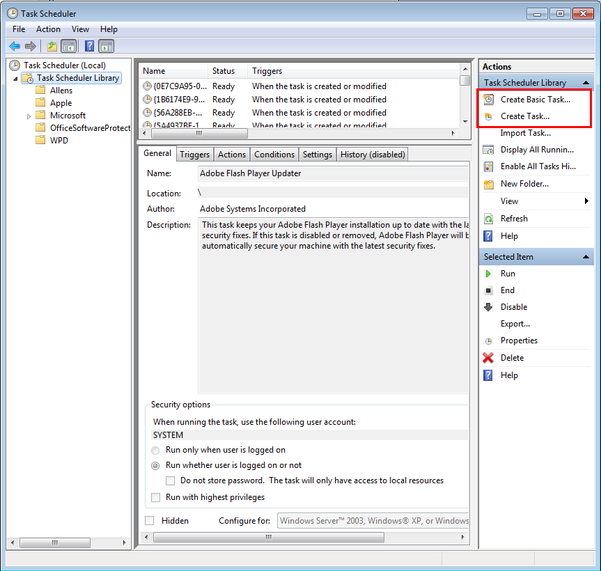 Using Windows Task Scheduler with Softinterface Software Tools